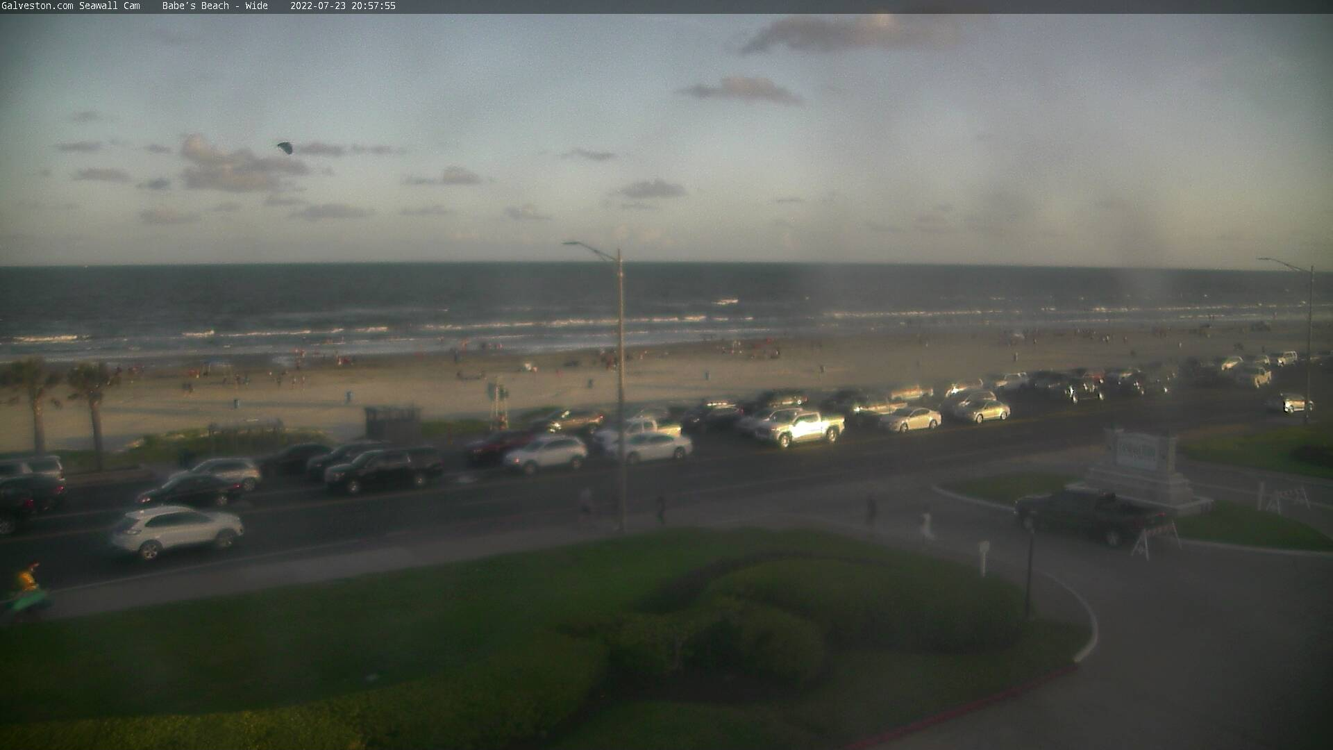 GALVESTON COM: Seawall Video Web Cam Live from Galveston, Texas